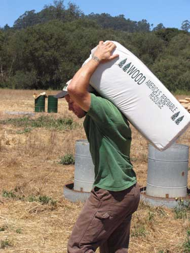 Rancher Jim Dunlop, hard at work
